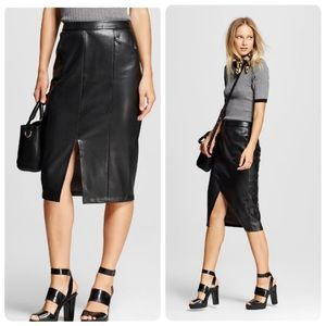 Sexy Faux Leather skirt size 4